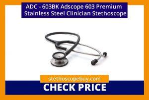 ADC 603BK Adscope 603 Premium Stainless Steel Clinician Stethoscope